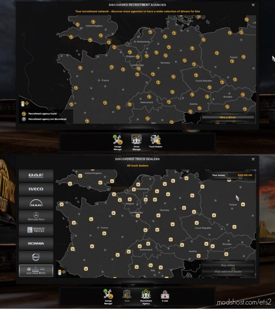Full Save Profile [1.36.X] for Euro Truck Simulator 2