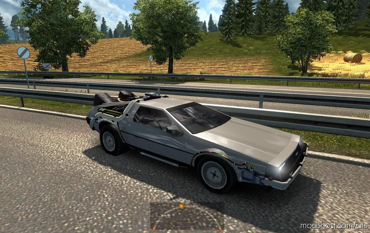 Sports CAR Delorean Dmc-12 IN Traffic V2.0 for American Truck Simulator