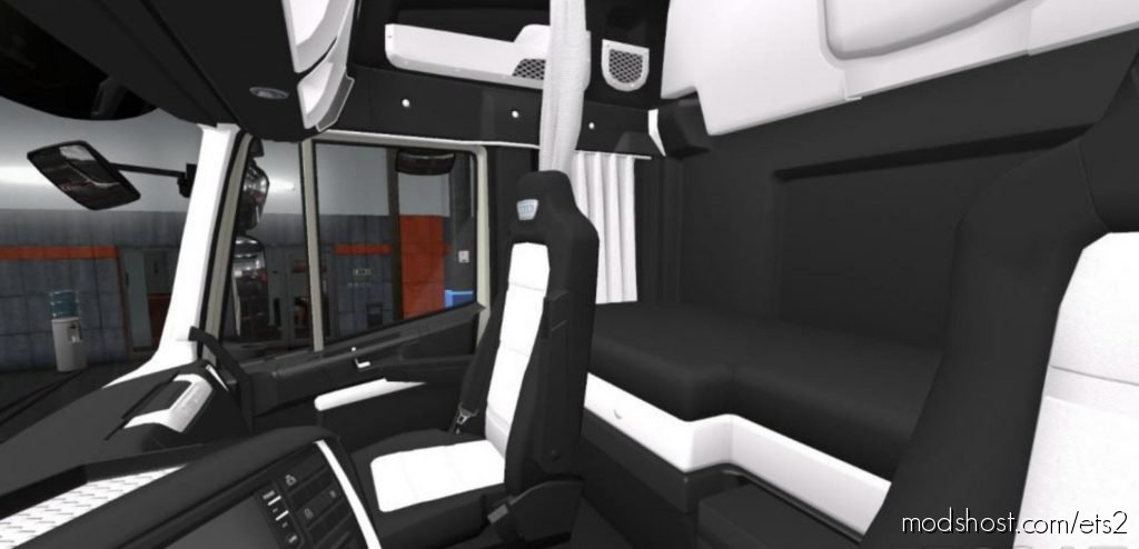 Iveco Hi-Way Luxury Black – White Interior 1.36.X for Euro Truck Simulator 2