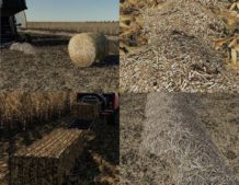 Corn & Soybean Straw Bales for Farming Simulator 2019