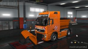 Snowplows For Volvo Fh16 2009 And Man Tgx 1.36.X for Euro Truck Simulator 2