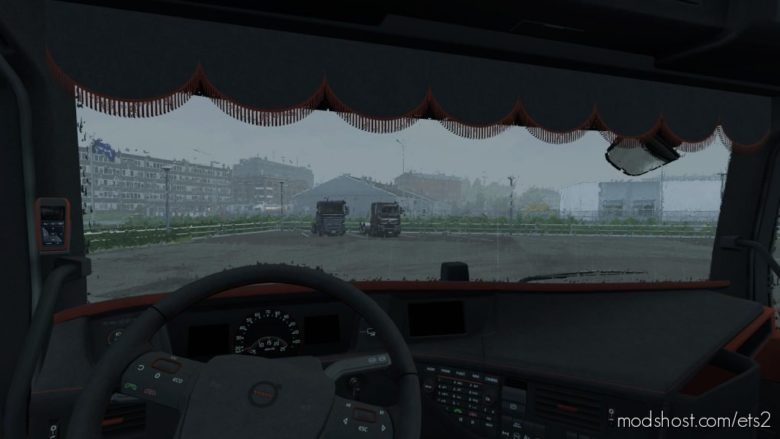 Black & Amber Interior For Volvo Fh 2012 1.36 for Euro Truck Simulator 2