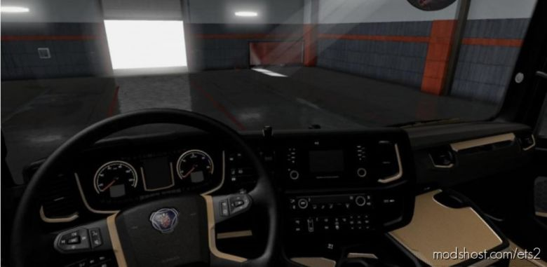 Scania S & R 2016 Black – Brown Interior 1.36.X for Euro Truck Simulator 2