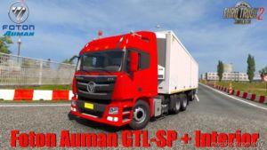 Chinese Truck Foton Auman Gtl-Sp + Interior V2.0 1.36.X for Euro Truck Simulator 2