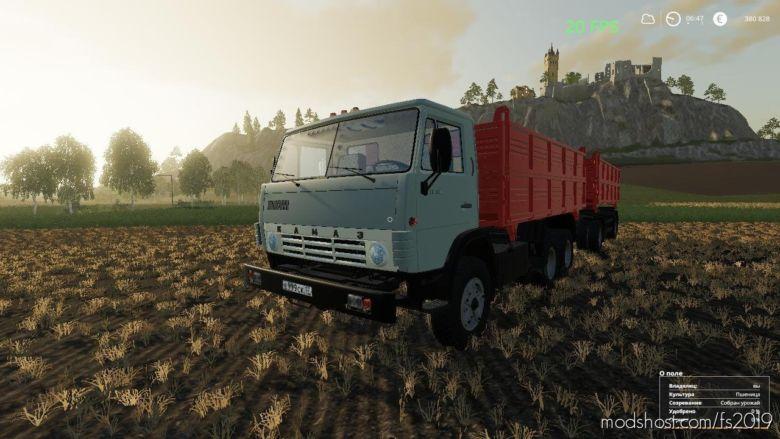 Kamaz 55102 & Nefaz 8560 V1.1 for Farming Simulator 2019