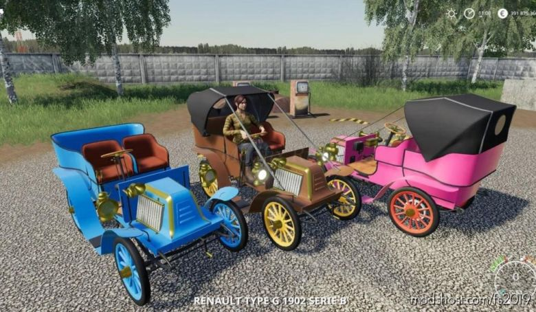 Renault Type G 1902 V1.0.0.1 for Farming Simulator 2019