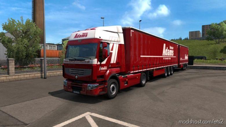 Combo Skin Adams For Renault Premium for Euro Truck Simulator 2