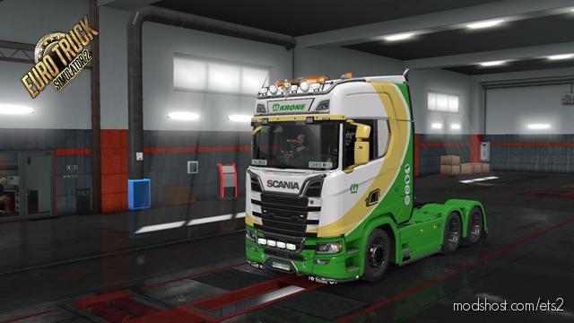 Scania S 2016 + Trailer Krone The Power Of Green Skin for Euro Truck Simulator 2