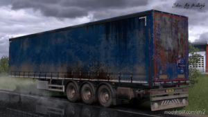 Worn Curtain Trailer Skin Pack for Euro Truck Simulator 2