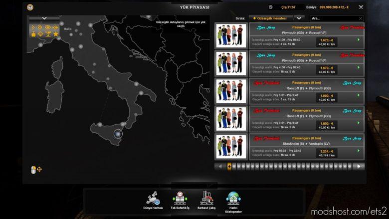 BUS Terminal Passenger Mod [1.36] for Euro Truck Simulator 2