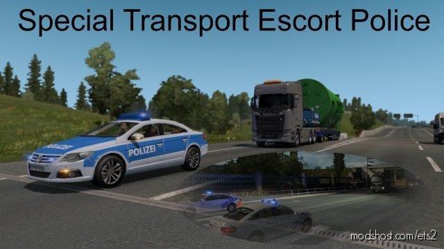 Special Transport Escort Police [1.36.X] for Euro Truck Simulator 2
