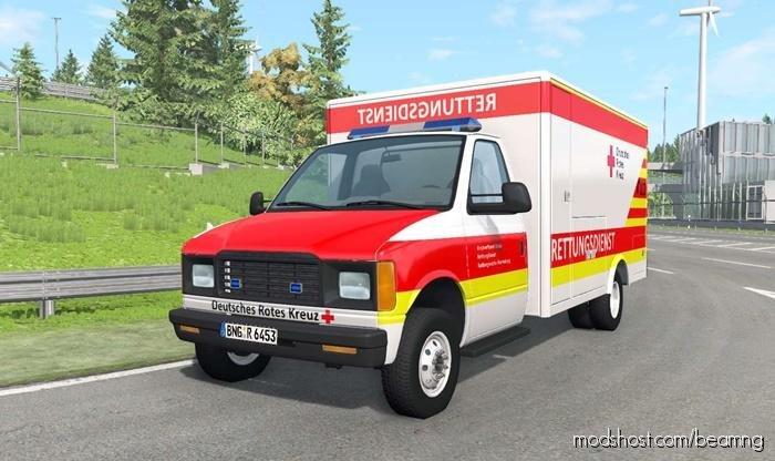 Gavril H-Series German Ambulance CAR V1.4 for BeamNG.drive
