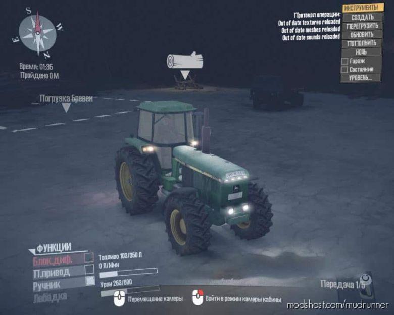 John Deere 4755 Tractor for MudRunner