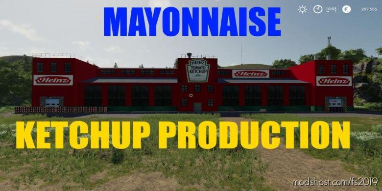 Ketchup Mayonnaise Production V1.0.5.0 for Farming Simulator 2019