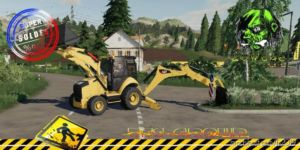Backhoe Loader CAT420 FIT V1.3 for Farming Simulator 2019