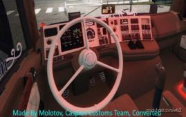 Scania Holland Style 3-Spoke Steering Wheel V2.0 By Molotov [1.36.X] for Euro Truck Simulator 2