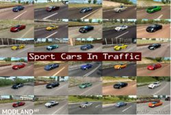 Sport Cars In Traffic Pack By Trafficmaniac V5.4 [1.36.X] for Euro Truck Simulator 2