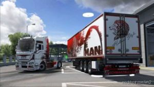 Skin Holland For MAN TGX Euro 6 And ITS Schwarzmuller Trailer for Euro Truck Simulator 2