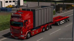 Abroll Scania RJL V1.5 for Euro Truck Simulator 2