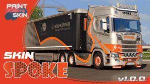 Spoke Skin For Scania S + Schwarzmuller for Euro Truck Simulator 2