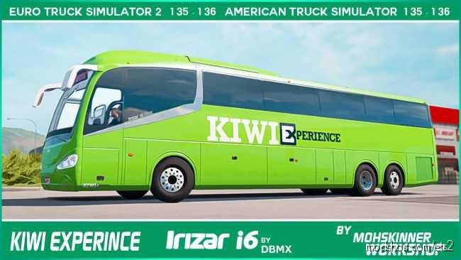 Mohskinner WP – Irizar I6 – Kiwi Experience [1.36] for Euro Truck Simulator 2