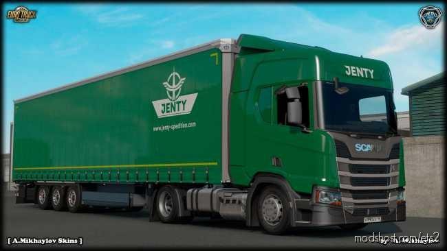 Scania R Highline Jenty Green Combo Skin for Euro Truck Simulator 2