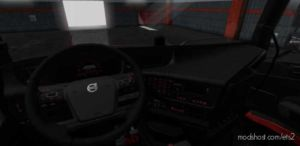 Volvo FH 2012 Black – RED Interior With RED Interior Lights [1.36.X] for Euro Truck Simulator 2