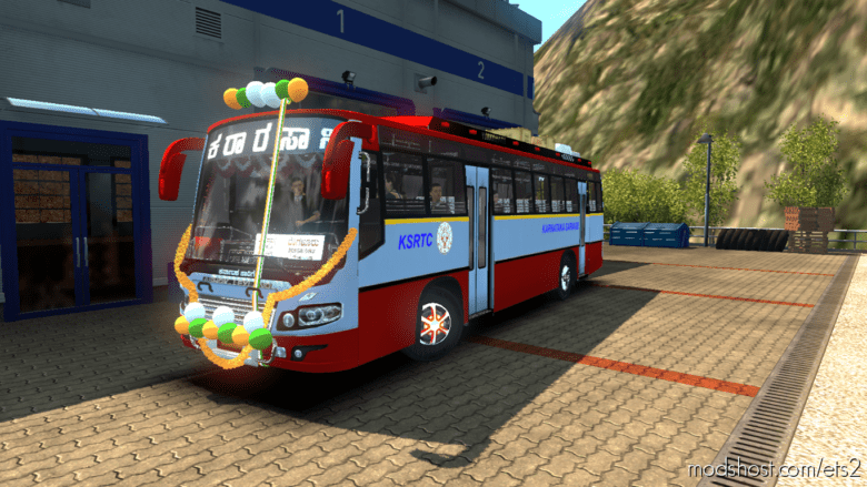 Indian BUS Traffic (Tamilnadu, Kerala, Karnataka State Buses) for Euro Truck Simulator 2