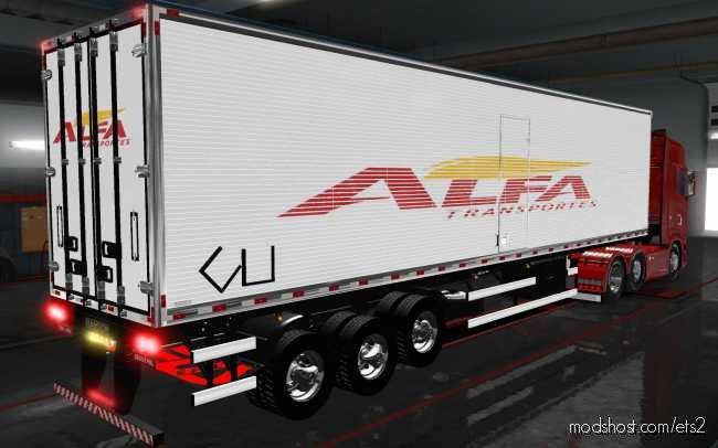 Skin Pack DE Reboques TSM By Tsmachado Alfa Transportes [1.36] for Euro Truck Simulator 2
