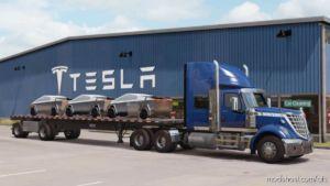 Tesla Trucks Cargo Trailer for American Truck Simulator