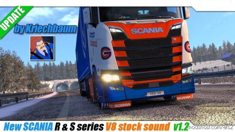 NEW Scania R & S Series V8 Stock Sound V1.2 [1.36.X] for Euro Truck Simulator 2