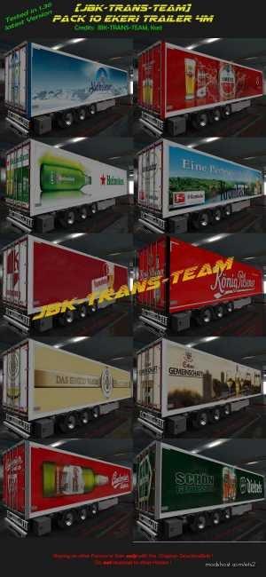 JBK 10 Ekeri Trailer 4M for Euro Truck Simulator 2