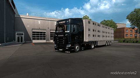 Hunland Scania Skin And Trailer for Euro Truck Simulator 2
