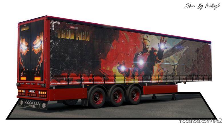 Iron MAN Trailer Skin 1 for Euro Truck Simulator 2