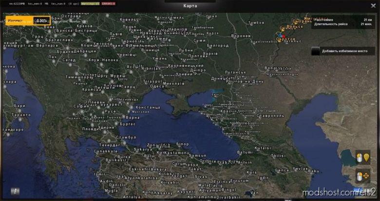 Satellite Map [1.36.X] for Euro Truck Simulator 2