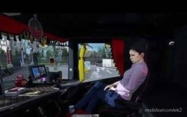 Animated Passenger In Truck (With YOU) V2.1 for Euro Truck Simulator 2