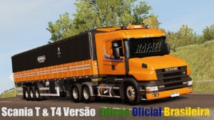 Scania T & T4 Brazil Official Edit [1.36.X] for Euro Truck Simulator 2