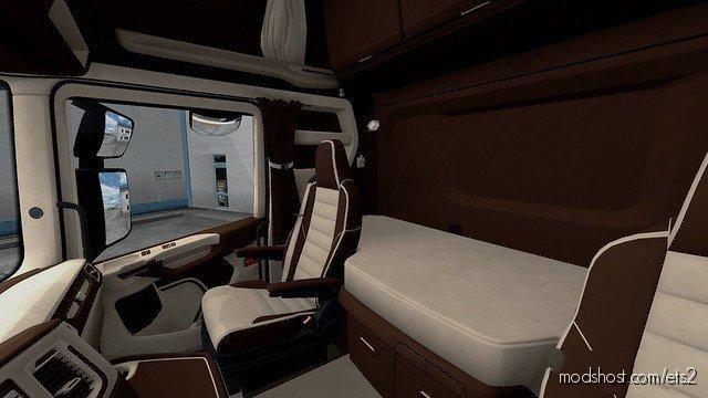 Scania S&R CMI Brown & Beige Interior [1.36] for Euro Truck Simulator 2