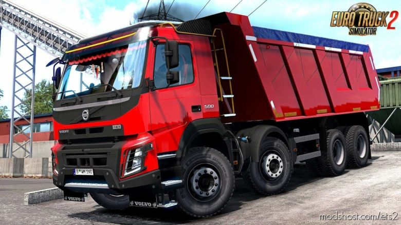 Volvo FMX Kipper Rework V1.1 By Mistersix [Trailer Added] [1.36.X] for Euro Truck Simulator 2