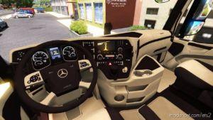 Mercedes Benz MP4 CMI Beige – Brown Interior [1.36.X] for Euro Truck Simulator 2