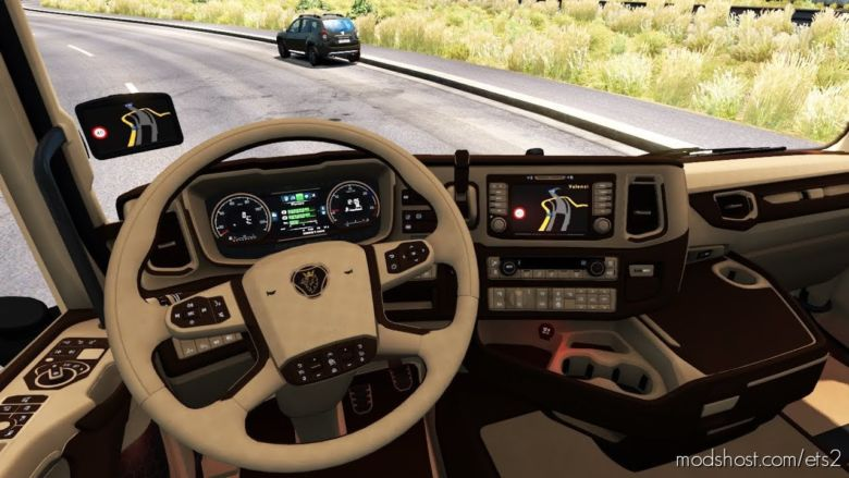 Scania S & R CMI Brown – Beige Interior [1.36.X] for Euro Truck Simulator 2