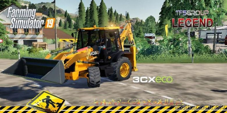 Backhoe Loader JCB 3CX ECO V1.5 for Farming Simulator 2019