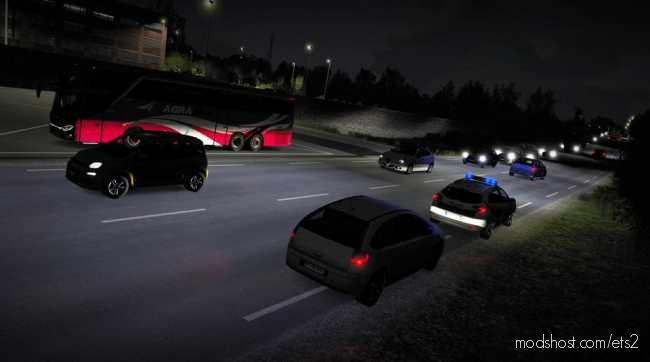 Realistic Headlight Beam Pattern V3.0 for Euro Truck Simulator 2