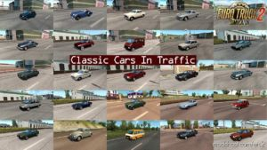 Classic Cars In Traffic Pack V4.3 By Trafficmaniac (1.36.X) for Euro Truck Simulator 2