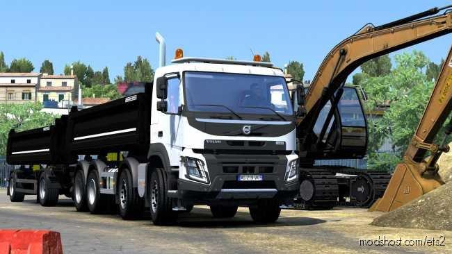 Volvo FMX Kipper Rework By Mistersix V1.2 for Euro Truck Simulator 2