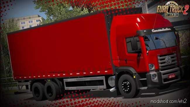 VW Constellation 24-280 + Graneleiro Trailer [1.36.X] for Euro Truck Simulator 2