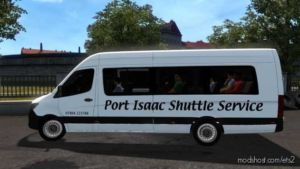 Port Isaac Shuttle Service Skin (2019 Merc Sprinter) for Euro Truck Simulator 2