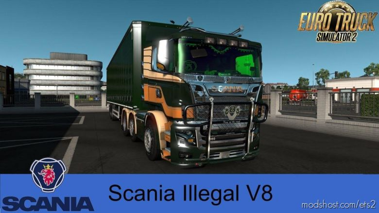 Scania R&S V8 Illegal Reworked V9.02 [1.36.X] for Euro Truck Simulator 2
