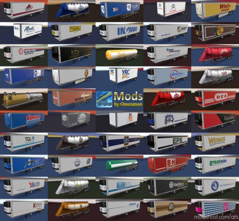 Trailer Pack By Omenman V3.25.2 [1.36.X] for American Truck Simulator