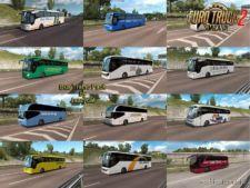 Busses In Traffic Pack V8.9 [1.36.X] for Euro Truck Simulator 2